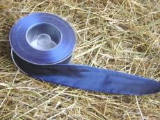 Schleifenband mit Drahtkante Dunkel - Blau