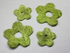 45 Sisalblüten 2 fach sortiert Grün