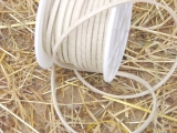 Lederband 25 m 3 mm in Creme