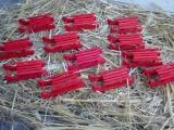Schlitten Holz rot 7 cm 12 Stück