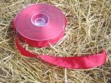 Schleifenband mit Drahtkante Rot