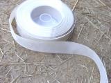 Schleifenband mit Drahtkante Creme