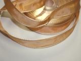 Schleifenband mit Drahtkante Lachs
