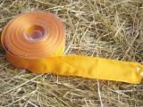 Schleifenband mit Drahtkante Gelb
