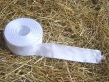Schleifenband mit Drahtkante Weiß