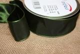 Schleifenband mit Drahtkante Dunkel Grün