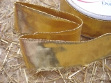 Schleifenband mit Drahtkante Gold