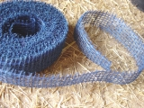 Juteband 3 cm x 10 m Blau