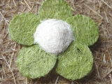 Sisal Blüte 15 cm Grün / Creme