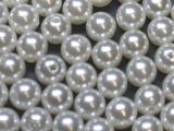 Große Portion - ca. 500 Stück - Perlen Weiß 10 mm